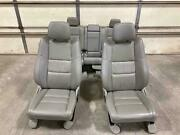 11-13 Jeep Grand Cherokee Front And Rear Graystone Gray Leather Seats Trim Uld3