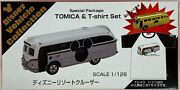 Tomica Special Package Disney Vehicle Collection Resort Cruiser Gold W/ T-shirt