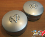 2005-2018 Ram 3500 Rear Left And Right 17x6 Steel Argent Wheel Center Caps Oem