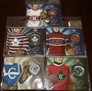 Montreal Canadiens Centennial 1909- 2009 50 Cents Colorized Coins 2-3-4-5-6 Set