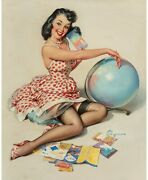 Pinup Girl - Out Of This World 195 Poster Canvas Picture Art Movie Car Game Film