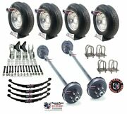 6k Tandem Axle Tire Wheel Tpu Trailer Kit - 12000 Lb Capacity 16 Tires Wheels