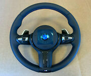 Bmw F15 F16 F25 F26 F39 F45 F48 Usa Oem M Steering Wheel Paddles Heating Carbon