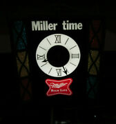 Miller High Life -it's Miller Time Stained Glass Lighted Clock.