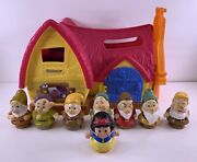 Fisher Price Little People Disney Snow White And Seven Dwarfs 7 Cottage Lot