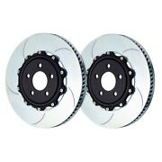 For Porsche 911 14-19 Brake Rotors Gt Series Curved Vane Type V Slotted 2-piece