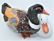 Vintage Figurines Porcelain Sculpture Male And Female Ducks Herend Hungary
