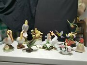 Bird Lover's Collection Set Of 11 Figurines John Perry, J.byron, Musical Box
