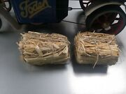 2 Hay Bales To Suit Mamod Steam Wagon Or Ow Trailer. Scale Accessories
