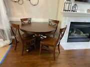 Pottery Barn Round Dining Table And 4 Chairs