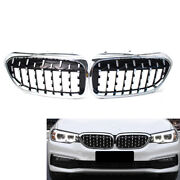 Chrome Diamond Car Front Grille Fit G30 G38 5-series 535i 525i 17-19 Abs Plastic