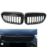 Gloss Black Diamond Style Front Grill Grille Fit For Bmw 5 Series G30 G38 17-19