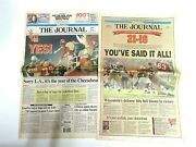 Vintage Wisconsin Badgers 1994 Rose Bowl Newspapers Lot Of Two 2