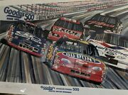 Goodies Headache Nascar Poster Signed By Artist Gary Hill. Not Sold To Public.