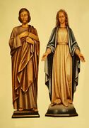 Beautiful Traditional Colored Fiberglass Statue Of St. Joseph - From Italy