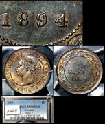 Elite Varieties Canada Large Cent 1894 Thick 4 - Pcgs Ms63 A428