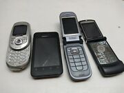 T-mobile Metro Pcs Gsm Candy Flip Phone Clam Shell Cellular Phones 4pcs Untested