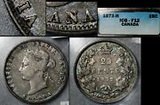 Elite Varieties Canada 25 Cents - 1872h Inverted A/v - F12 Very Rare A516