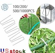 6 Landscape Sod Staples Sturdy Garden Stakes Weed Barrier Fabric Pins 1000pcs