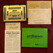 Vintage Autobridge Play-yourself Bridge Game With Extra Hands Sheets And Scoring