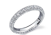 2ct Natural Diamond G-h Single Row Eternity Band Ring 14kt White Gold Si1