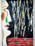Irving Kriesberg Study For And039droppingand039 1991. Pastel + Turpentine On Paper.
