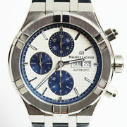 Maurice Lacroix Icon Automatic Chronograph Ai6038-ss001-131-1 Watch White Blue