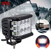 4 Inch Led Work Light Bar Pod White And Red Strobe Lamp For Boat Atv Suv 4wd Truck