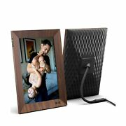Nixplay 10.1 Inch Smart Digital Picture Frame Wood Effect - Share Video Clips...