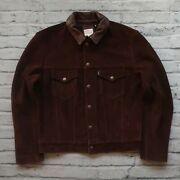 New Vintage Clothing Lvc 1960's Suede Leather Trucker Jacket Type 3