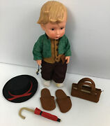 Hummel Goebel Merry Wanderer Vinyl Doll With Clothes And Accessories 1700 Series