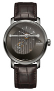 New Rado Diamaster Automatic Black Dial Leather Band Menand039s Watch R14061106