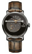 New Rado Diamaster Automatic Brown Dial Leather Band Menand039s Watch R14061306