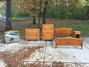 Virginia House - Covered Wagon Bedroom Set - 1950andrsquos Bed Chest Dresser Nightstand