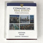 Commercial Real Estate Analysis And Investments 3rd Ed By David Geltner New Sealed