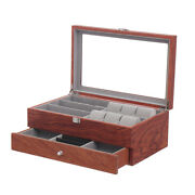 Watch Glasses Display Case Storage Grids Box Jewelry Collection Case Organizer