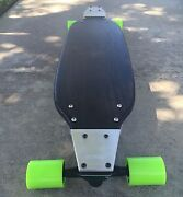 Longboard With Drop Plates Made Of Solid Wood - Schwarz