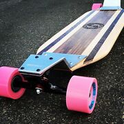 Longboard With Drop Plates Made Of Solid Wood - Minna