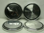 4 Nice Used Vintage Ford Dog Dish Center Caps Poverty Fomoco 10 1/2 1968-1973
