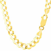 14k Yellow Gold Comfort Curb Chain Width 8.2mm