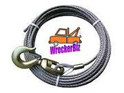 1/2 X 100and039 Eips Iwrc Tow Truck Winch Cable Wire Rope Swivel Hook - Steel Core