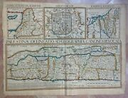 Holy Land Dated 1641 Philippe Briet/ Henri Le Roy Very Unusual Large Antique Map