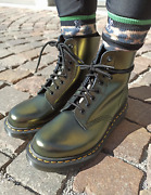 Dr. Martens 1460 Pascal Metallic Leather Boots Black Chroma Gold Great Reviews