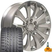 W1x Fits 22 Polished 5922 High Country Rims Gy Tires And Tpms Silverado