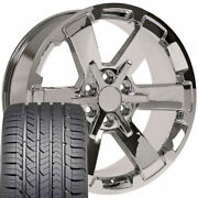 22 Rims Tires Fit Chevy Tahoe Sierra Chrome Wheels Gy Tires 5662