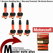 Motorcraft Sp534 Spark Plug + Uf612 Red Ignition Coil For Ford Expedition 3.5l