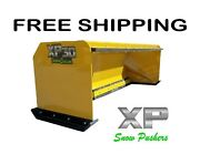 8and039 Xp30 Snow Pusher With Pullback Bar Free Shipping-rtr Skid Steer Bobcat