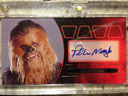 Topps Star Wars Revenge Sith Widevision Peter Mayhew Auto Autograph Silver 15/15