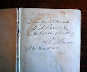 The Life Of P.t. Barnum. By Himself. Inscribed, Signed, And Dated First Edition.