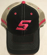 New Snap-on Tools Collectors Baseball Cap Hat One Size Black/pink Adjustable